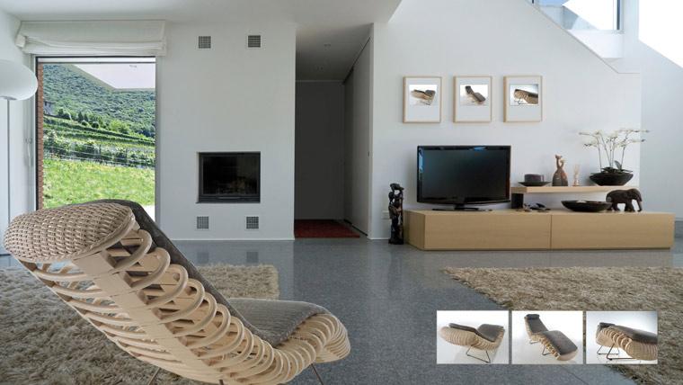 rattanliege f r innen raum und m beldesign inspiration. Black Bedroom Furniture Sets. Home Design Ideas
